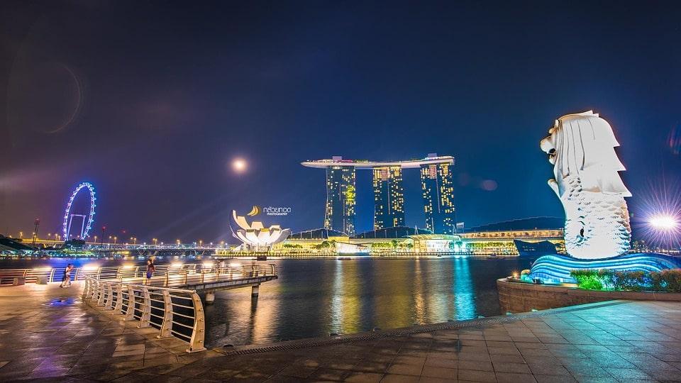 Singapore Marina Baysand Merlion