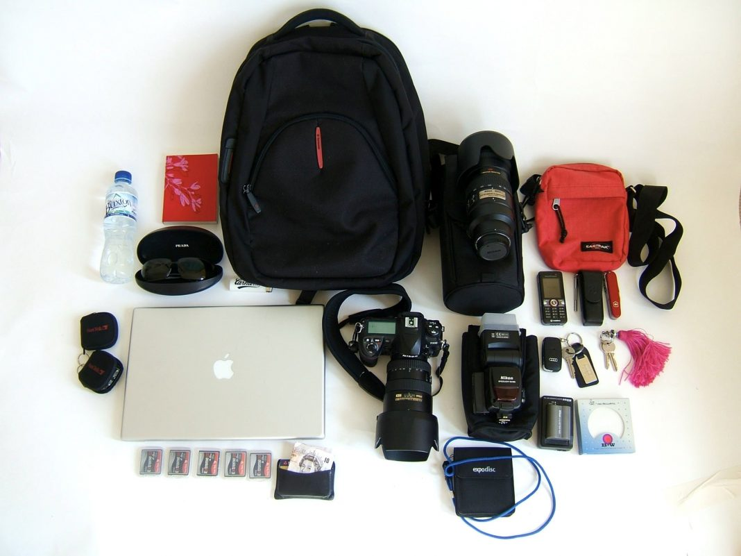 Your travel photography kit should include multiple sd cards, batteries, lenses, etc.