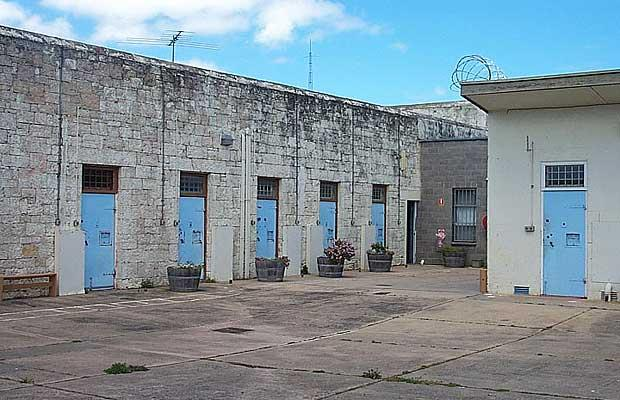 Gambier jail hotel prison yard