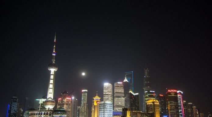building lights in shanghai china