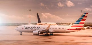 American Airlines Airplane Parked at the Airport