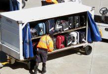 Workers preparing Airport baggage