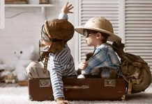 Traveling on a plane with young children