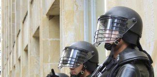 Riot Police in Bogota, Colombia