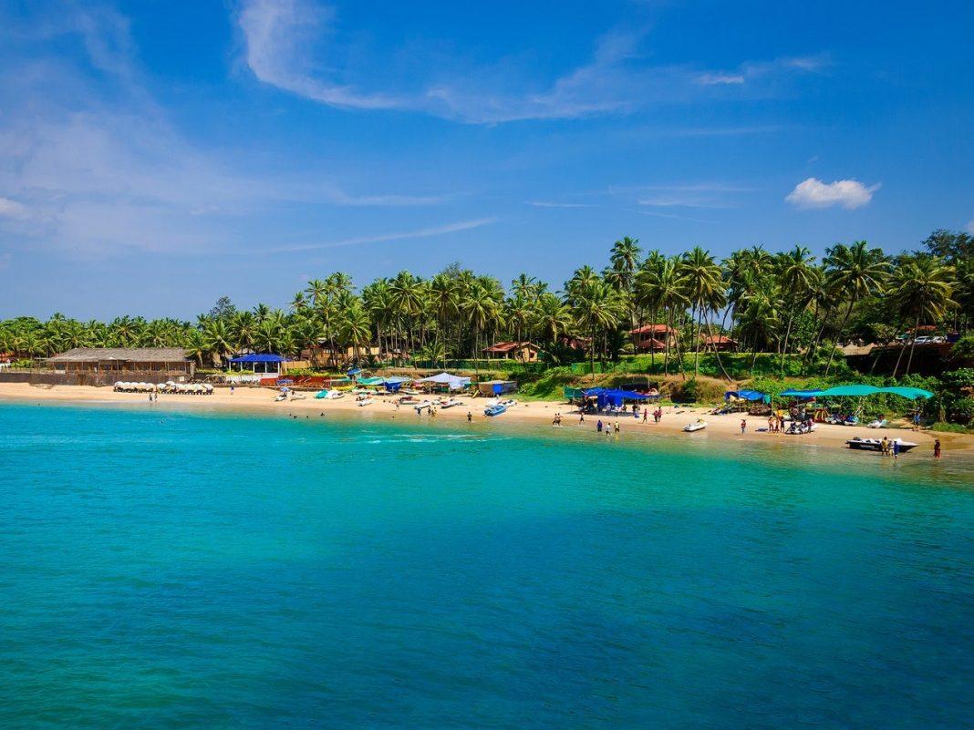 A Beach and Pristine Water in Goa