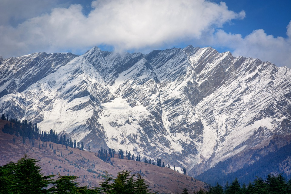 Snowy Himalayas near Rohtang Pass, Manali