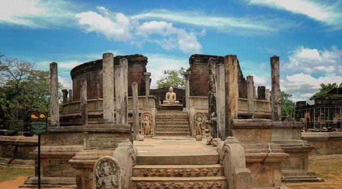 Ruins of Polonnaruwa in Sri Lanka