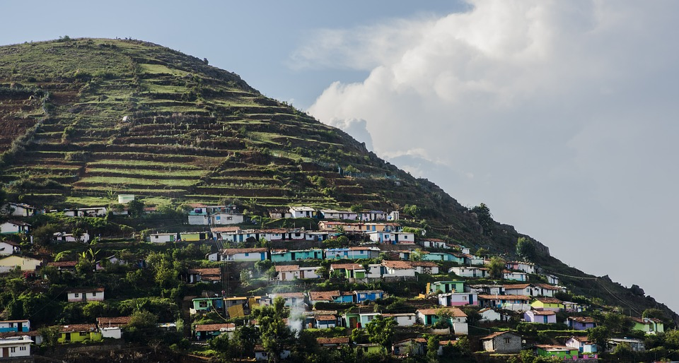 A village in Ooty high in the mountains