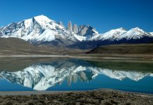 A breath-taking mountain lake in Patagonia