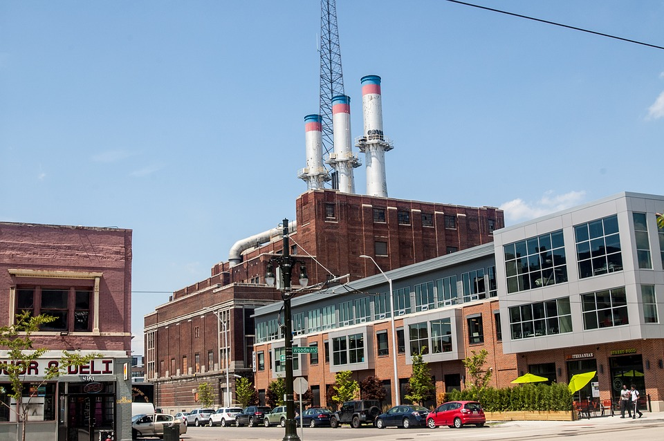 An Old Factory in the city of Detroit