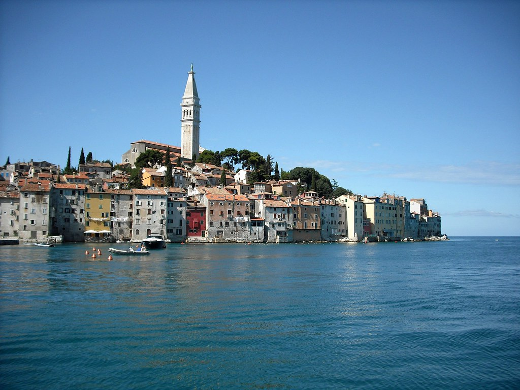 The Lovely old Town of Rovinj in Croatia