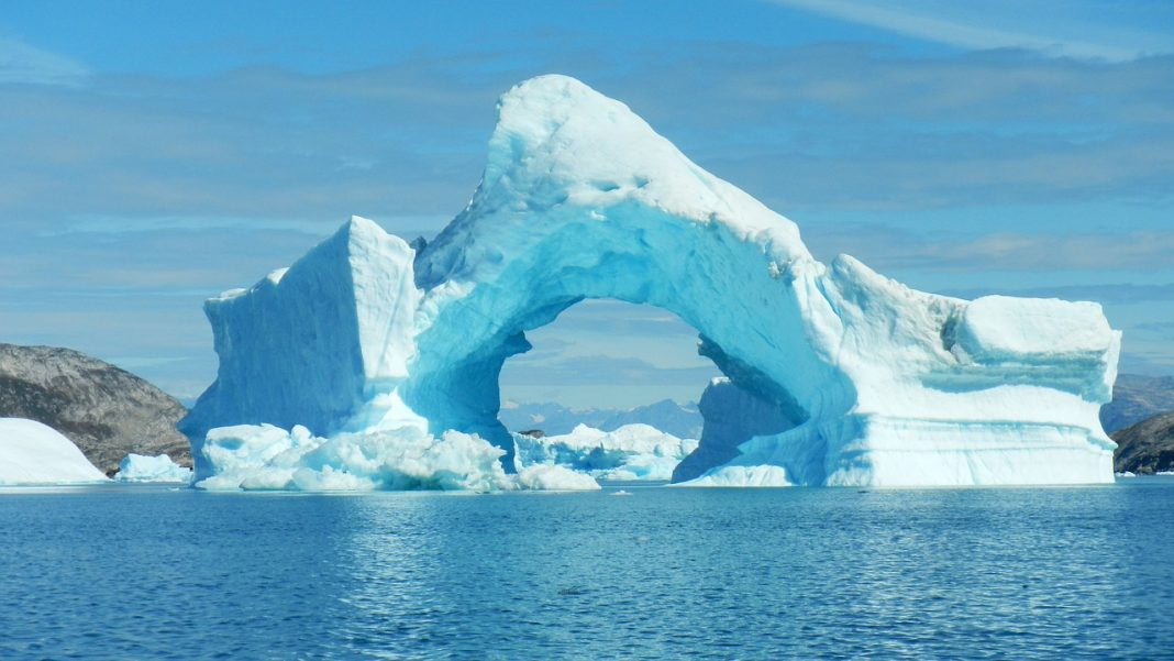 Icebergs in Greenland have fascinating shapes