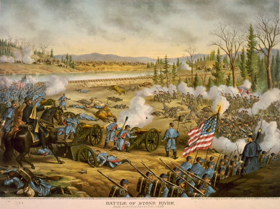 The battle of Stones River at Murfreesboro