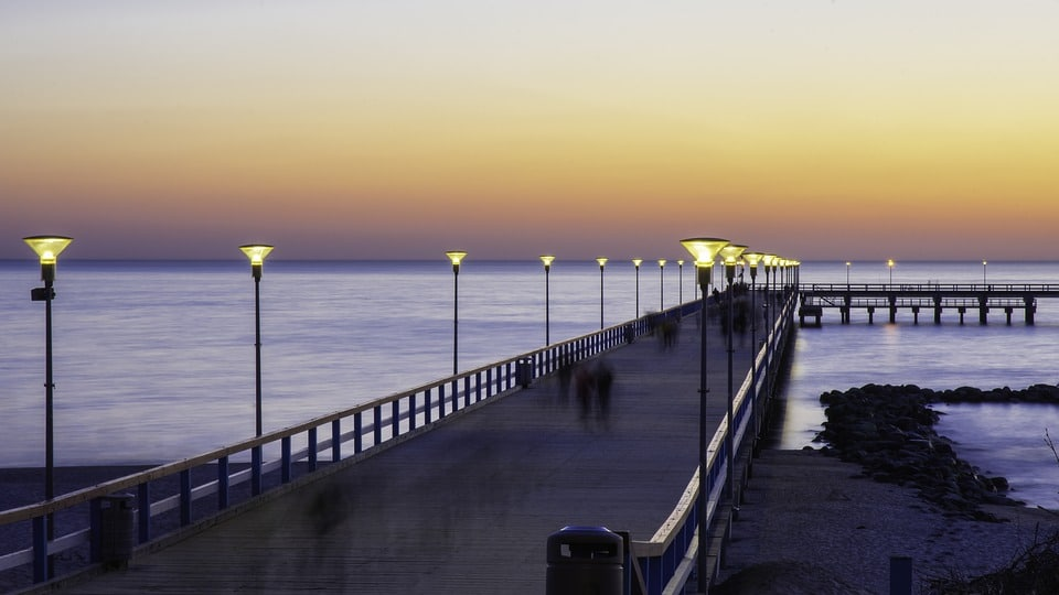 Palanga Pier and the Baltic Sea at Sunset
