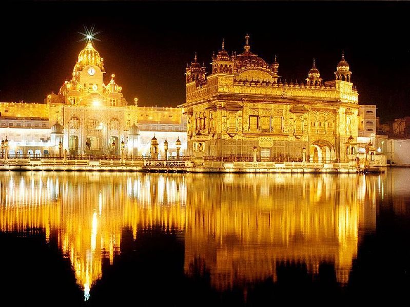 Golden Temple in Amritsar in the evening