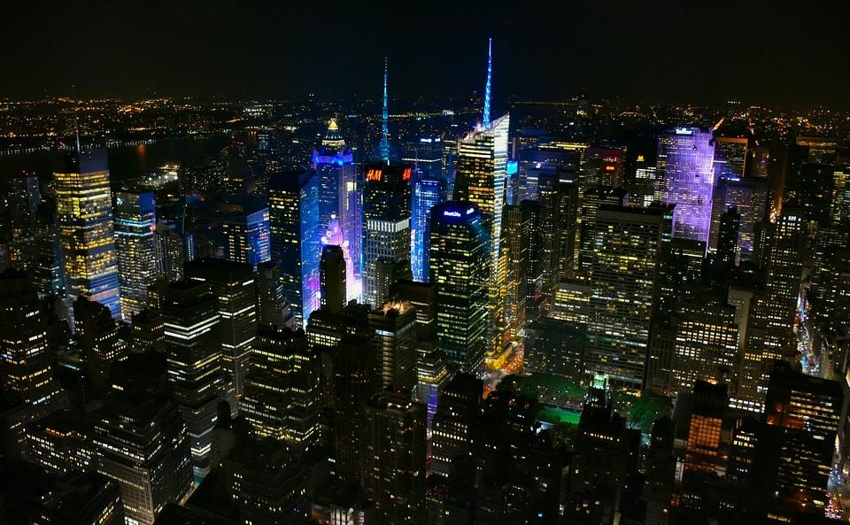 New York shines bright at night