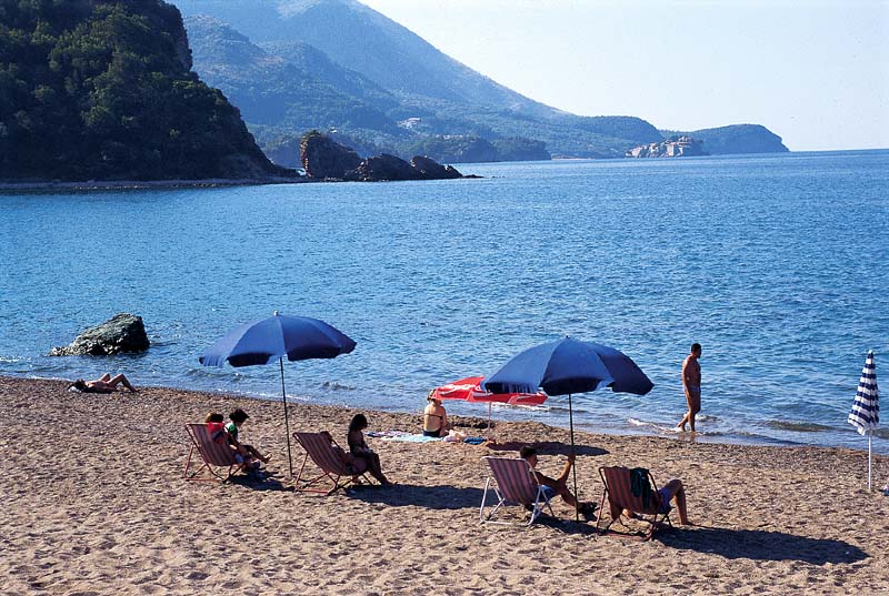 Bečići Beach and Sea at Summer