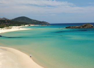 Chia Beach in Sardinia, Italy