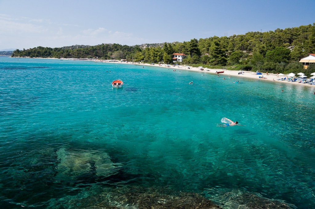 Koviou Beach near Nikiti in Chalkidiki