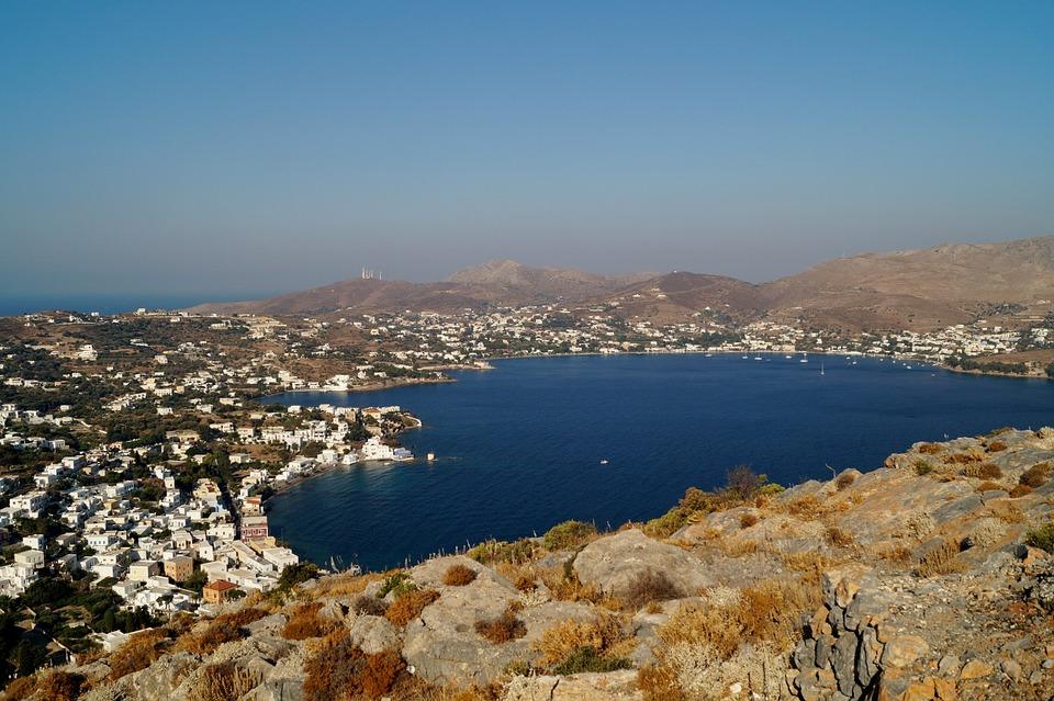 A Town and a Bay on Leros Island