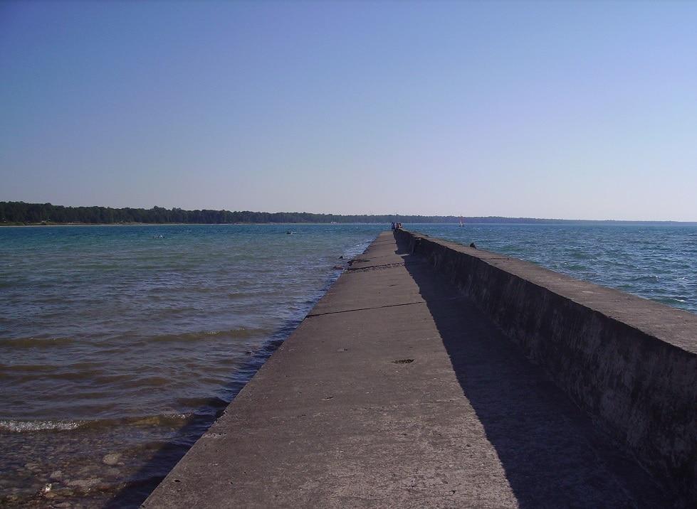 A Breakwall at Port Elgin, Ontario
