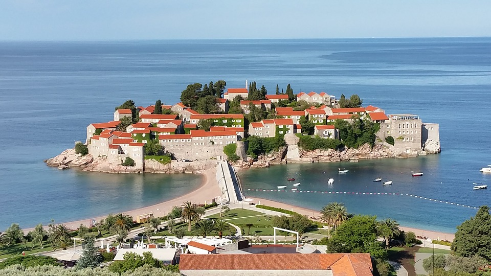 The islet of Sveti Stefan in Montenegro