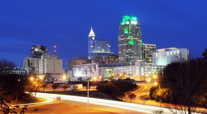 A romantic evening in Raleigh