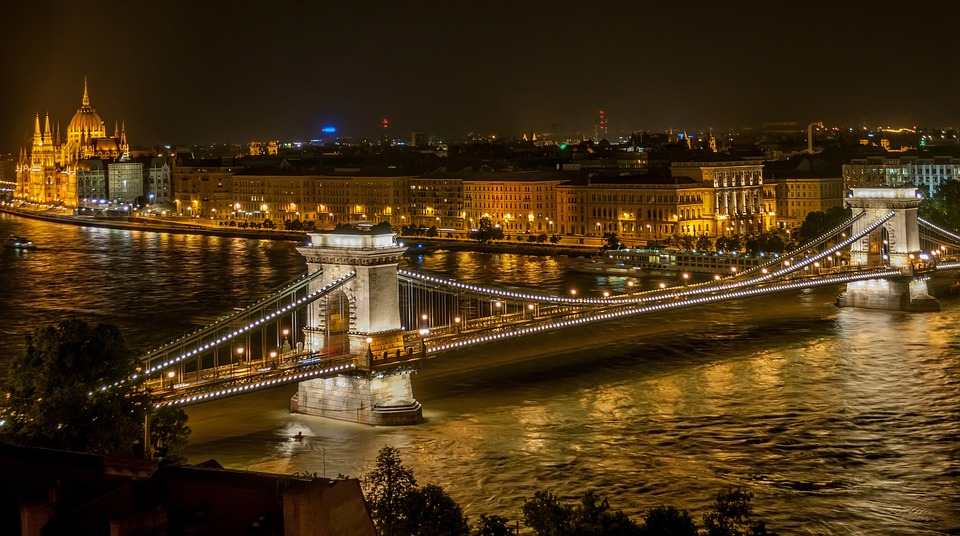 The city of Budapest at Night