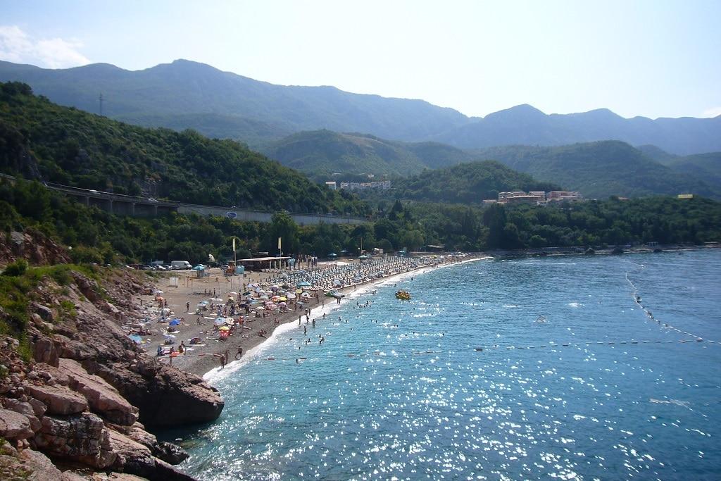 Azure Water at Kamenovo Beach in Montenegro