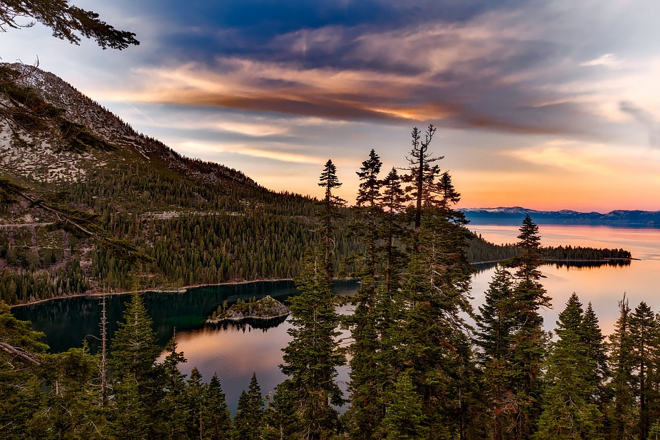 Lake Tahoe and Surrounding Forests