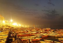 Nighttime in Varanasi