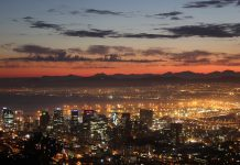 Sunrise over the Cape Town