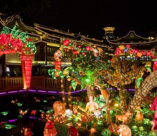 Colorful Festival in December in Shanghai, China