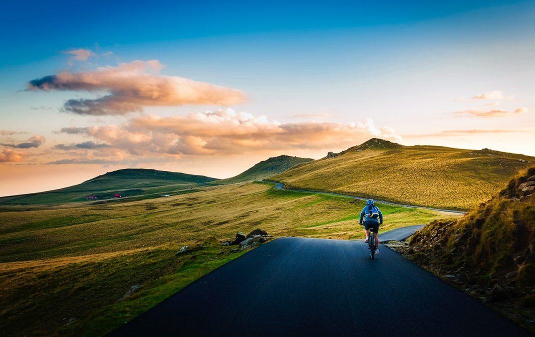 Riding a bike through Romanian landscapes
