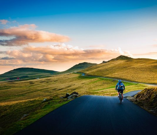 Riding a bike through Romanian landscapes
