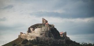 A citadel on a hill in Transylvania