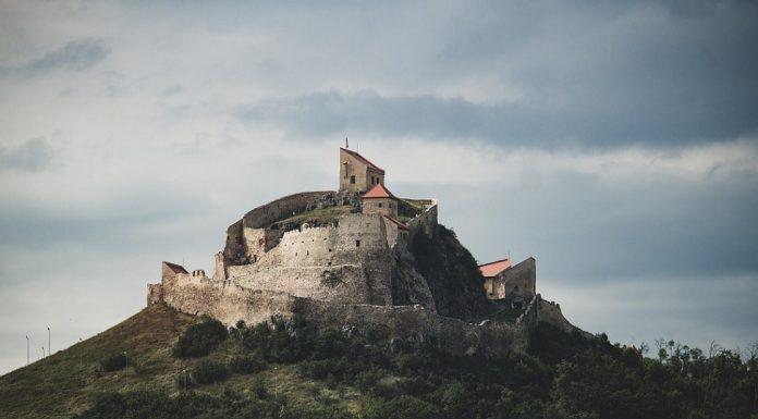 A citadel on a hill in Transylvania