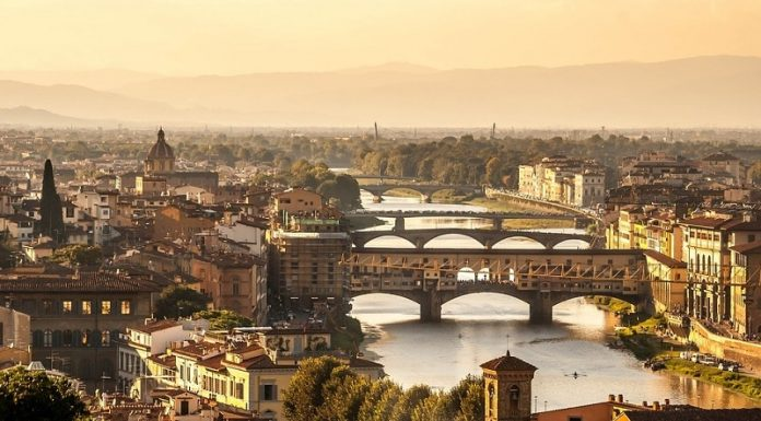 City of Florence viewed from above