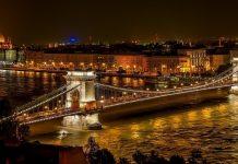 A bridge in Budapest, Hungary