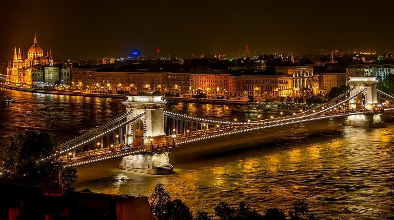A bridge in Budapest, Hungary