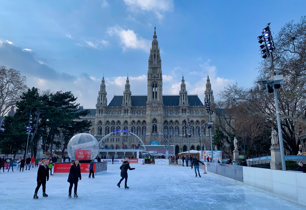 snowy Vienna at Christmastime